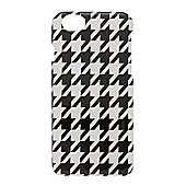 Tortoise™ Hard Protective Case, iPhone 6, Dogtooth design, Black/White.