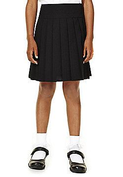 F&F School Girls Kilt Skirt - Black