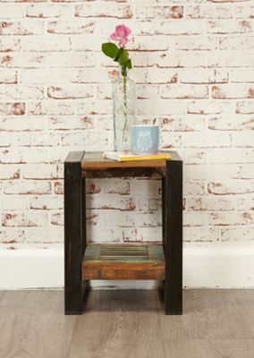 Urban Chic Low Plant Stand / Lamp table Brown - Baumhaus