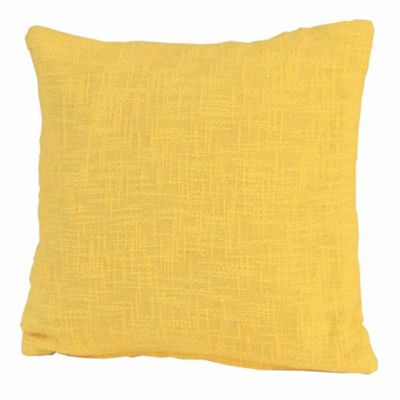 Homescapes Nirvana Cotton Yellow Cushion Cover, 60 x 60 cm