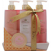 Style & Grace Utopia Bathroom Collection Gift Set 250ml Body Wash + 250ml Body Lotion + 250ml Body Polish