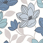 Superfresco Superfloral Floral Blue Wallpaper