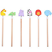 Bigjigs Toys Safari Animal Pencils (Pack of 6)