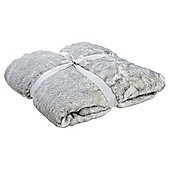 Tesco Grey Tipped Faux Fur Throw