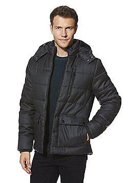 F&F Padded Hooded Jacket - Charcoal