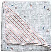 Bebe Au Lait Premium Muslin Snuggle Blanket - Little Owl + Tinsley (120 x 120cm)