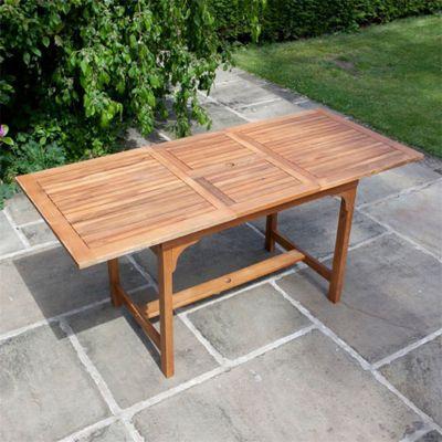 BillyOh Windsor 1.6m Hardwood Acacia Extending Rectangular Wooden Dining Table