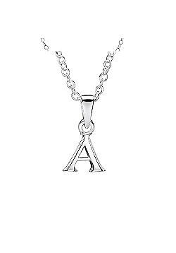 Jo For Girls Silver Initial Pendant - A