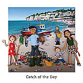 Holy Mackerel Catch Of The Day Greetings Card