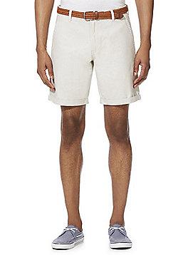 F&F Belted Chino Shorts - Stone
