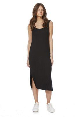 F&F Side Split Jersey Midi Dress Black 6
