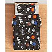 Galaxy Cotbed Junior Duvet Cover Set with Pillowcase