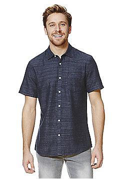 F&F Striped Short Sleeve Shirt - Indigo