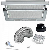 Cookology Integrated Telescopic Cooker hood TEL600SS | 60cm Built-in Extractor Fan in Stainless Steel & ducting Kit