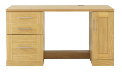 Caxton Home Office Executive Desk Combination - Oak
