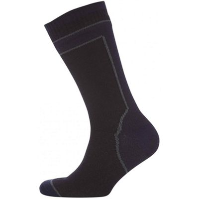 SealSkinz Hydrostop Mid Weight Mid Length Sock Black Size: S