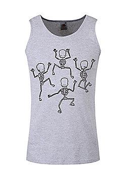 Dancing Skeletons Men's Grey Vest - Silver