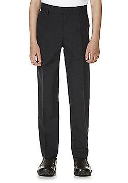 "F&F School 2 Pack of Boys Teflon EcoElite""™ Stretch Skinny Leg Trousers - Black"
