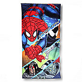 Character Ultimate Spiderman 'Action' Printed 100% Cotton Beach Towel