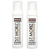 St Moriz Instant Self Tanning Mousse 2 x 200ml - Medium