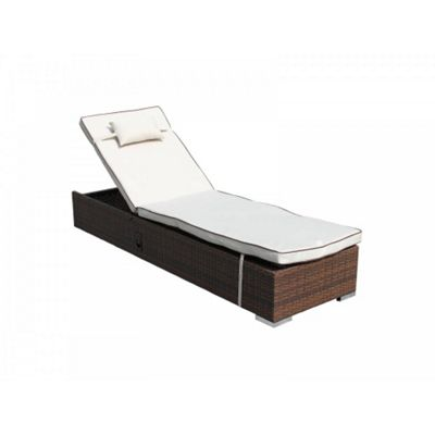 Miami Sun Lounger in Chocolate Mix and Coffee Cream