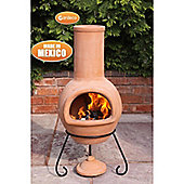 Large Mexican Chimenea Colima Natural Terracotta