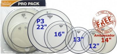Remo PP-0270-PS Pinstripe Clear 5 Piece Standard Propack