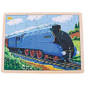 Bigjigs Toys Mallard Train Wooden Tray Puzzle - 35 Piece Puzzle