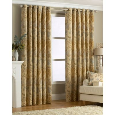 Riva Home Berkshire Gold Eyelet Curtains - 66x72 Inches (168x183cm)