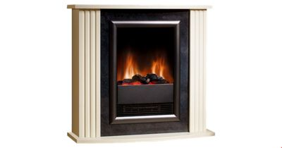 Mozart MZT20 Fire Suite Optiflame Log Effect, Stone Surround