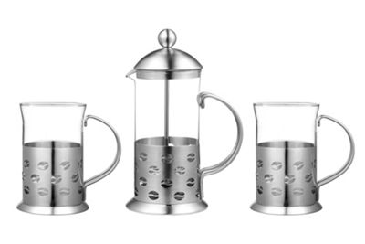 Premier Housewares 3 Piece Bean Design Cafetiere Set