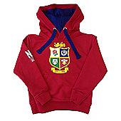 British & Irish Lions Rugby Kids Logo Hoodie - Red