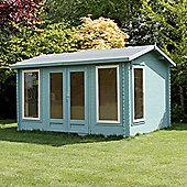 Single Glazed Home Office Director Wooden Log Cabin, 34mm, 13x10ft