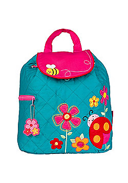 Toddler Backpacks, Kids Backpacks, Children's Quilted Backpack - Teal Ladybug
