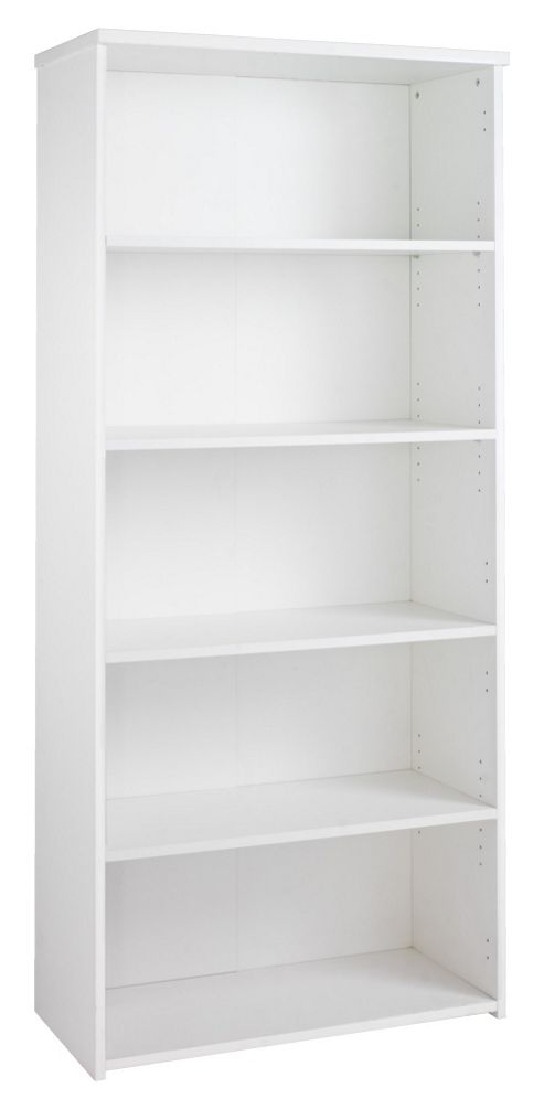Office Basics Tall Bookcase - White