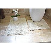 Rapport 2 Piece Bath Mat Set - Cream