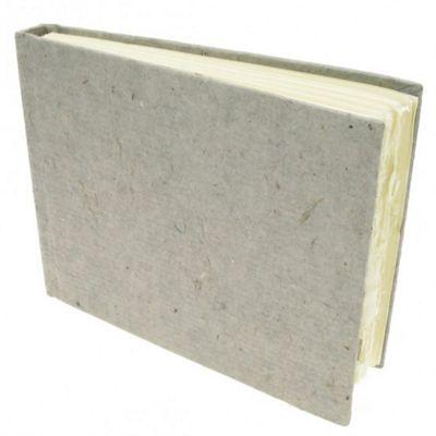 Handmade Paper Hardback Sketchbook Small, white smooth, 13cm x 16cm. 210gsm
