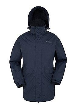 Mountain Warehouse Glacier Extreme Mens Long Waterproof Jacket - Blue