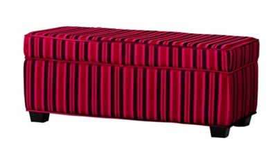 Sofa Collection Valentina Footstool - Red