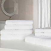Highams Luxury Egyptian Cotton Towel Bale 7 Piece - White