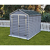 Palram Skylight Dark Grey Plastic Shed, 6x10ft