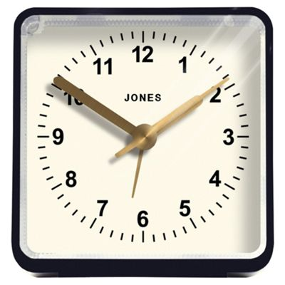 Jones Navy Square Alarm Clock