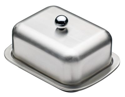 KitchenCraft Master Class Deep Double Walled Insulated Butter Dish and Cover
