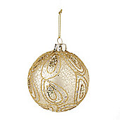 Gold Paisley Christmas Bauble