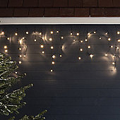 300 Warm White LED Icicle Lights for Indoor Outdoor Use