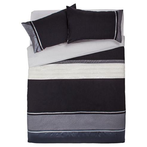 Tesco Cosmo Kingsize Size Duvet Cover Set, Black