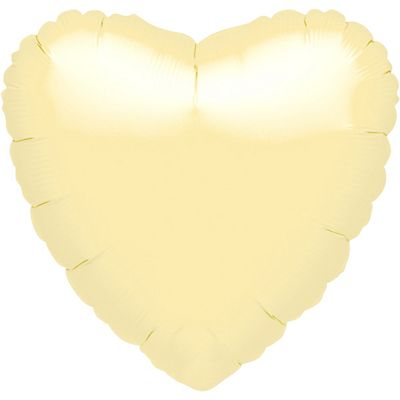 Pearl Ivory Heart Balloon - 18 inch Foil