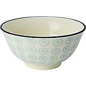 Nicola Spring Patterned Cereal Bowl - 152mm - Turquoise / Black Swirl Design