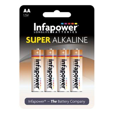 Infapower AA Super Alkaline Batteries 4 Pack (B702)
