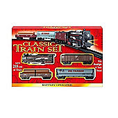 Classic Toy Train Set With Tracks Battery Operated